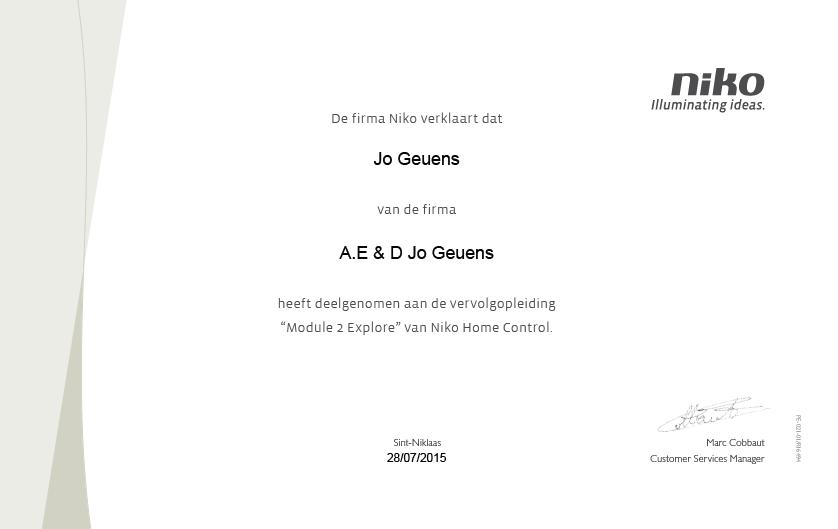 AED Geuens - Automatisatie - Elektriciteit - Domotica - Balen - Mol - Lommel - Geel